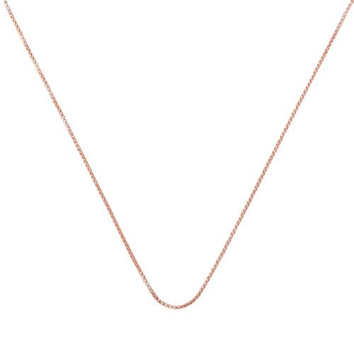 Rose Gold Vermeil Fine Oval Box Chain -18
