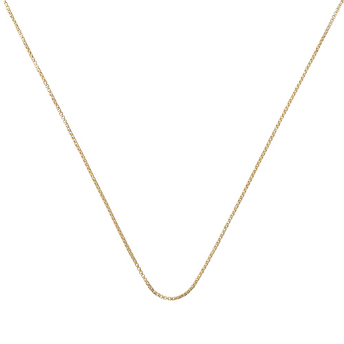 Gold Vermeil Fine Oval Box Chain -18