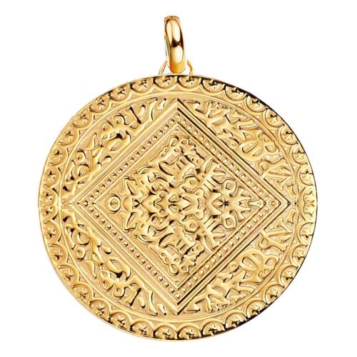 Gold Vermeil Marie Pendant Charm - Monica Vinader