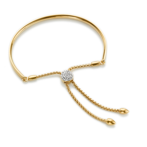 Gold Vermeil Fiji Diamond Toggle Bracelet - Diamond - Monica Vinader