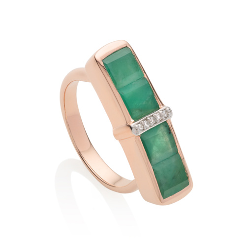 Baja Precious Ring in 18ct Rose Gold Vermeil on Sterling Silver