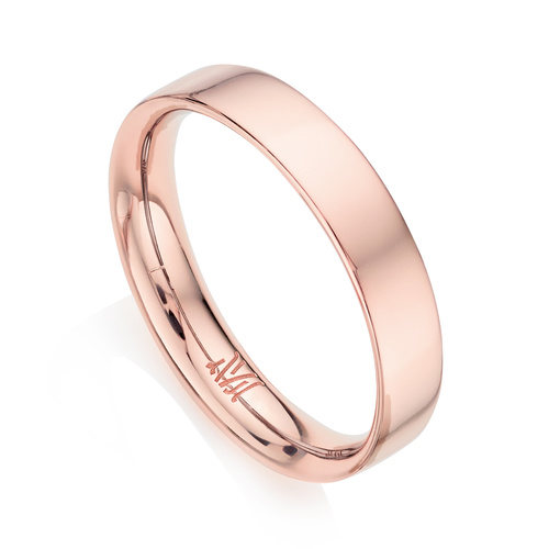 Rose Gold Vermeil Fiji Band Stacking Ring - Monica Vinader