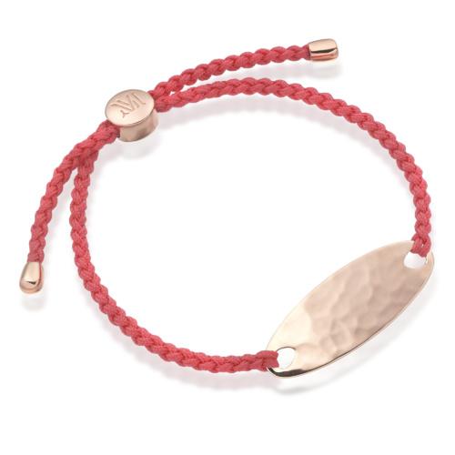 Rose Gold Bali Friendship Bracelet Candy Red