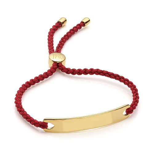 Gold Vermeil Havana Friendship Bracelet - Crimson
