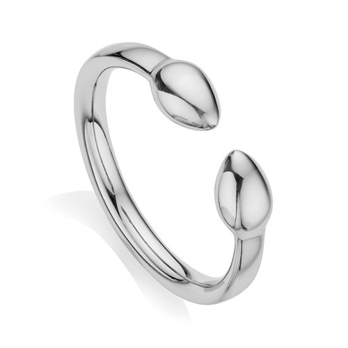 Sterling Silver Fiji Bud Stacking Ring - Monica Vinader
