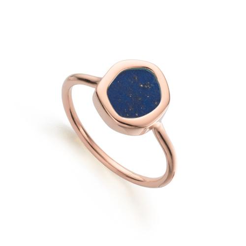 Rose Gold Vermeil Atlantis Gem Mini Stacking Ring in Lapis