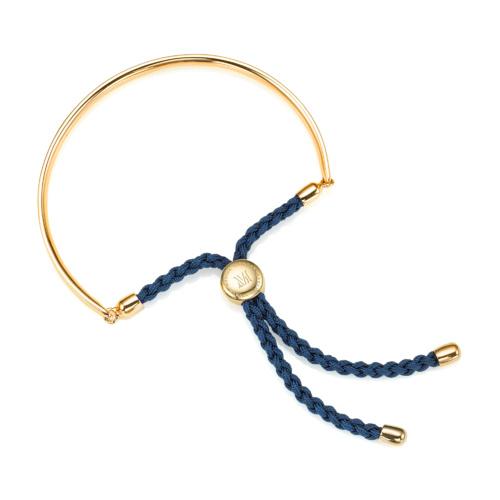 Gold Vermeil Fiji Friendship Bracelet - Teal - Monica Vinader