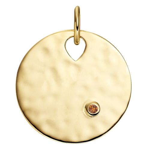 Gold Vermeil Ava Pendant - Orange Sapphire - Monica Vinader