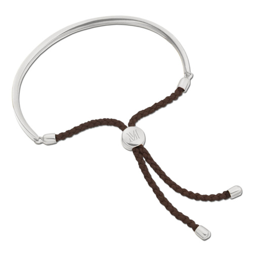Fiji Friendship Bracelet - Chocolate - Monica Vinader