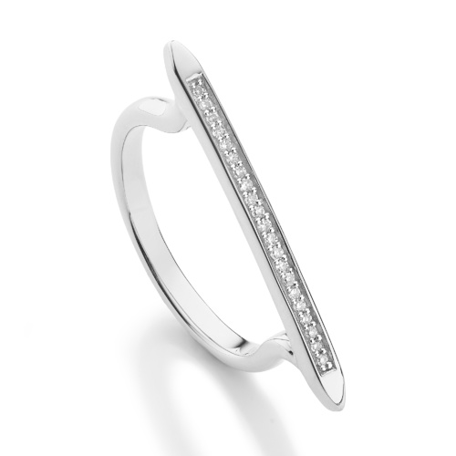 Skinny Diamond Stacking Ring