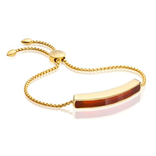 Gold Vermeil Baja Bracelet - Red Onyx
