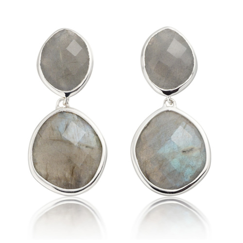 Medium Nugget Drop Earrings - Labradorite - Monica Vinader
