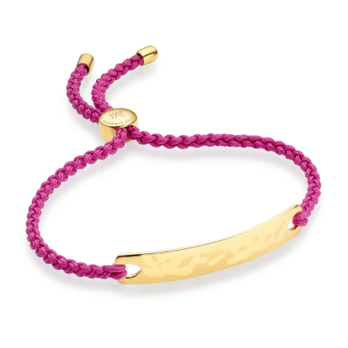 Gold Vermeil Havana Friendship Bracelet - Fuchsia