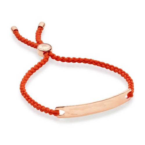 Rose Gold Vermeil Havana Friendship Bracelet - Poppy