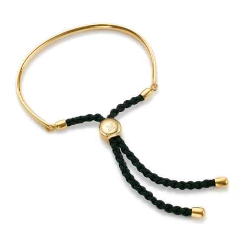 Gold Vermeil Fiji Friendship Bracelet - Black