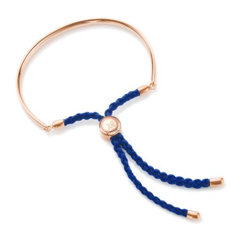Rose Gold Vermeil Fiji Friendship Bracelet - Royal Blue