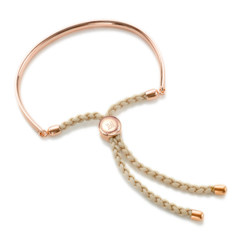Rose Gold Vermeil Fiji Friendship Bracelet - Nude