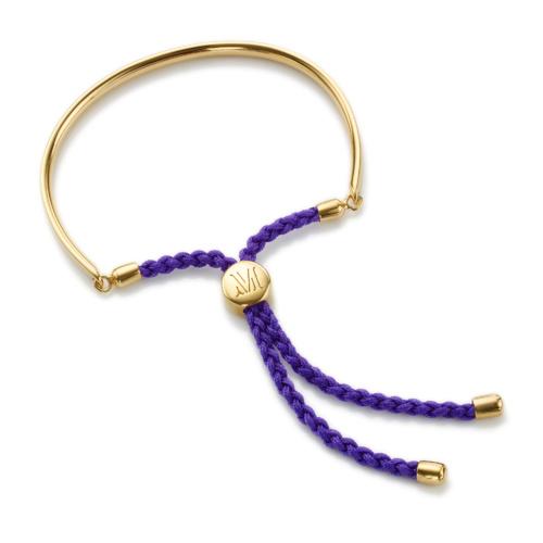 Gold Vermeil Fiji Friendship Petite Bracelet - Plum