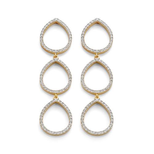 Gold Vermeil Naida Teardrop Cocktail Earrings - Diamond - Monica Vinader