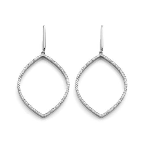 Naida Marquise Cocktail Earrings - Diamond - Monica Vinader