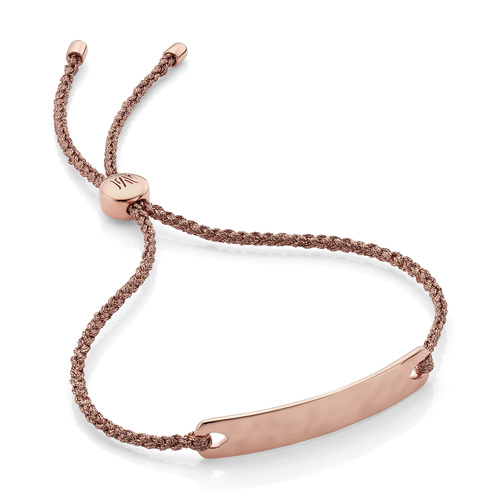 Rose Gold Vermeil Havana Mini Friendship Bracelet - Rose Gold Metallica - Monica Vinader