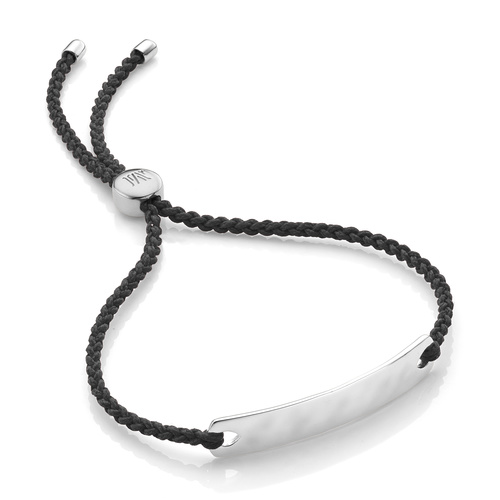Sterling Silver Havana Mini Friendship Bracelet - Black - Monica Vinader