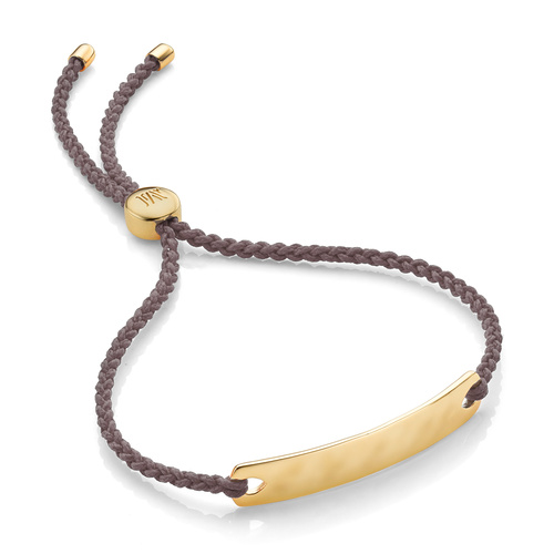 Gold Vermeil Havana Mini Friendship Bracelet - Mink - Monica Vinader