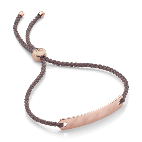Rose Gold Vermeil Havana Mini Friendship Bracelet - Mink - Monica Vinader