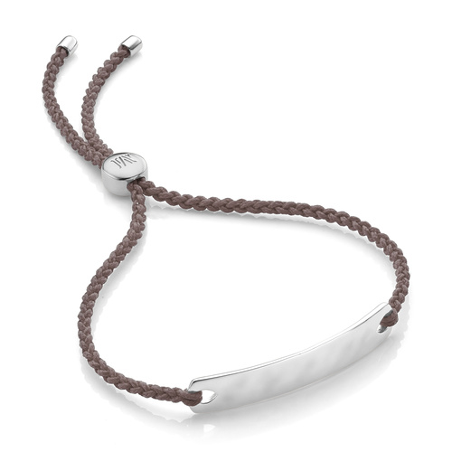 Sterling Silver Havana Mini Friendship Bracelet - Mink - Monica Vinader