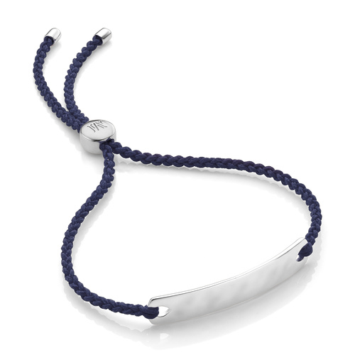 Havana Mini Friendship Bracelet - Navy Blue - Monica Vinader