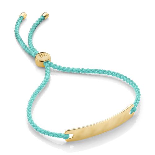 Gold Vermeil Havana Mini Friendship Bracelet - Mint - Monica Vinader