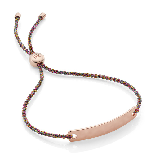 Rose Gold Vermeil Havana Mini Friendship Bracelet - Rainbow Metallica - Monica Vinader