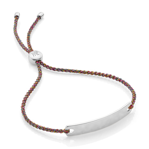 Sterling Silver Havana Mini Friendship Bracelet - Rainbow Metallica - Monica Vinader