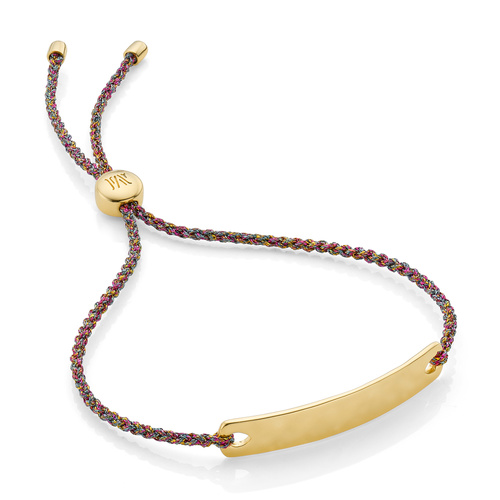 Gold Vermeil Havana Mini Friendship Bracelet - Rainbow Metallica - Monica Vinader
