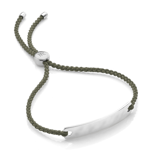 Havana Mini Friendship Bracelet - Khaki - Monica Vinader