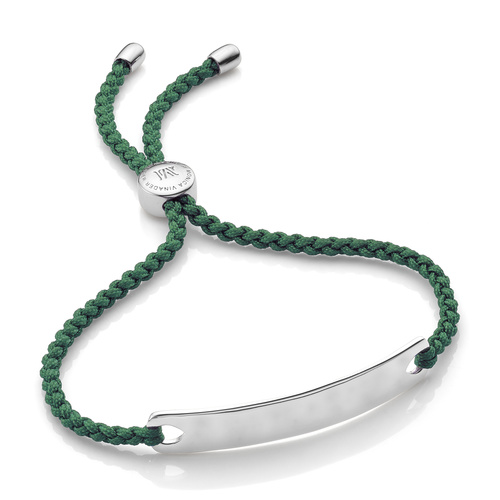 Havana Friendship Bracelet - Khaki Green - Monica Vinader