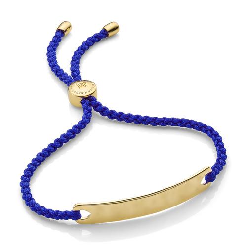 Gold Vermeil Havana Friendship Bracelet - Majorelle Blue - Monica Vinader