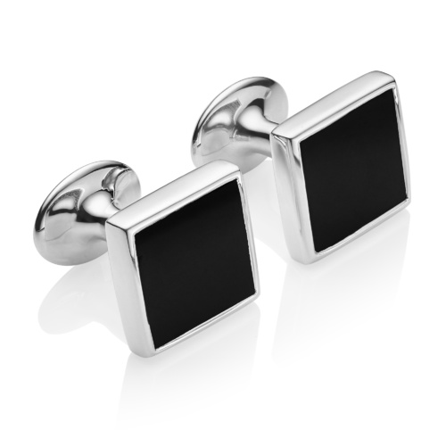 Square Cufflinks - Black Onyx