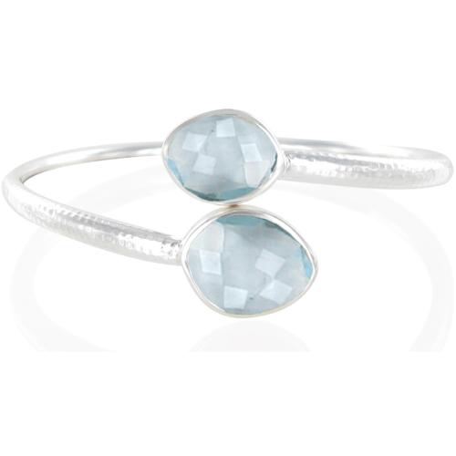Slink Bracelet - Swiss Blue Quartz - Monica Vinader