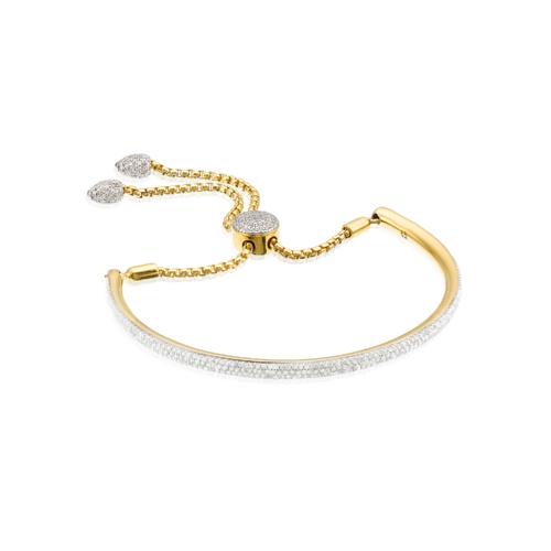 Gold Vermeil Fiji Full Diamond Bracelet - Diamond - Monica Vinader