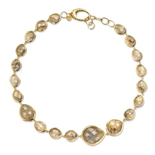 Gold Vermeil Nugget link Necklace - Monica Vinader