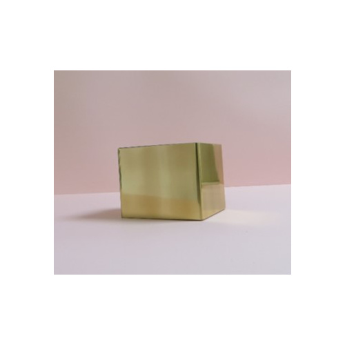 Cuff - Cuff Block Tall - White/Brass - Monica Vinader