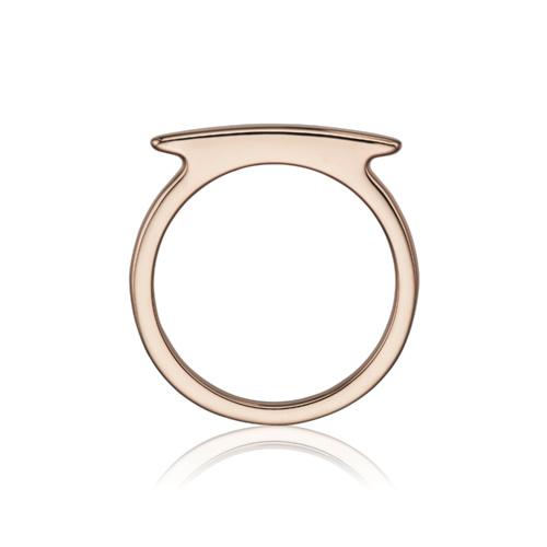 Rose Gold Vermeil Skinny Bar Ring - Monica Vinader