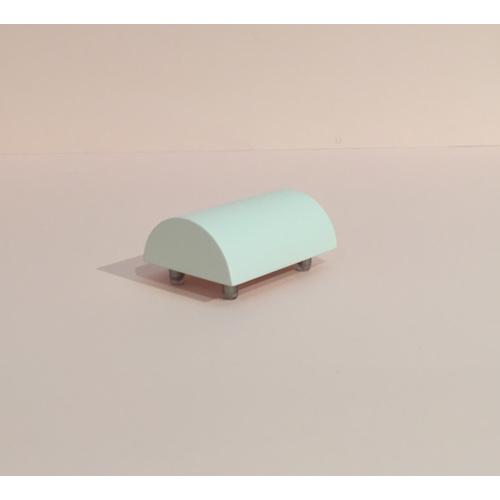 Bangle Roll - Half Bangle Roll Short Horizontal 80mm - White - Monica Vinader