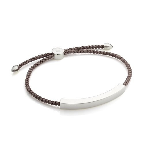 Linear Large Men's Friendship Bracelet - Mink - Monica Vinader