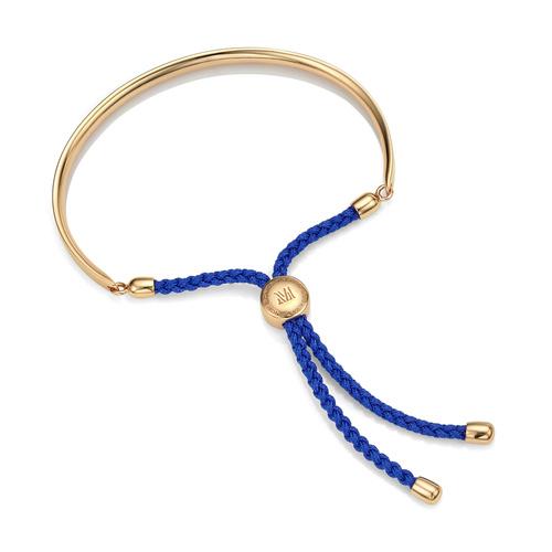 Gold Vermeil Fiji Friendship Petite Bracelet - Majorelle Blue - Monica Vinader