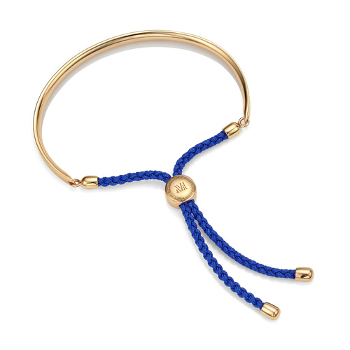 Gold Vermeil Fiji Friendship Bracelet - Blue - Monica Vinader