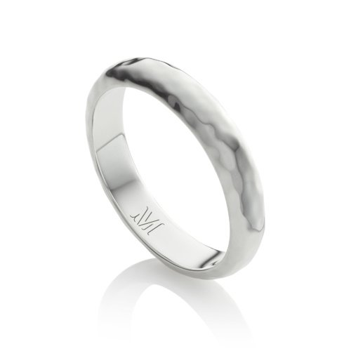 Sterling Silver Havana Thin Ring - Monica Vinader
