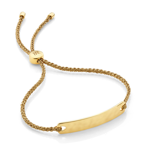 Gold Vermeil Havana Mini Friendship Bracelet - Gold Metallica - Monica Vinader