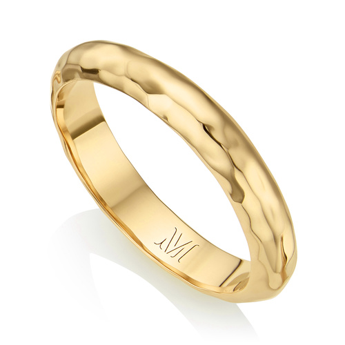 Gold Vermeil Havana Thin Ring - Gold - Monica Vinader